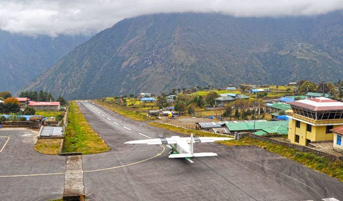 Aeroporto Lukla Tenzing Hillary, Nepal, Himalaia