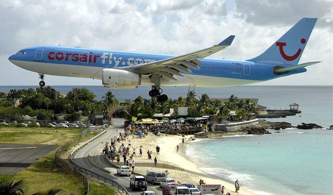 Aeroporto Princesa Juliana, Saint Martin, Caribe