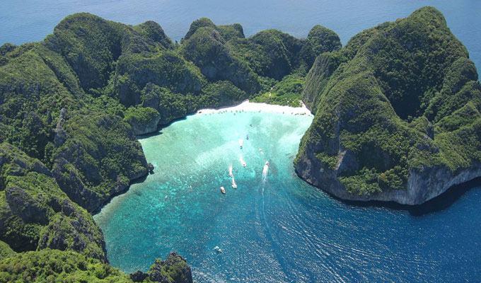 Praia mais bonita do mundo: Maya Bay, Tailândia