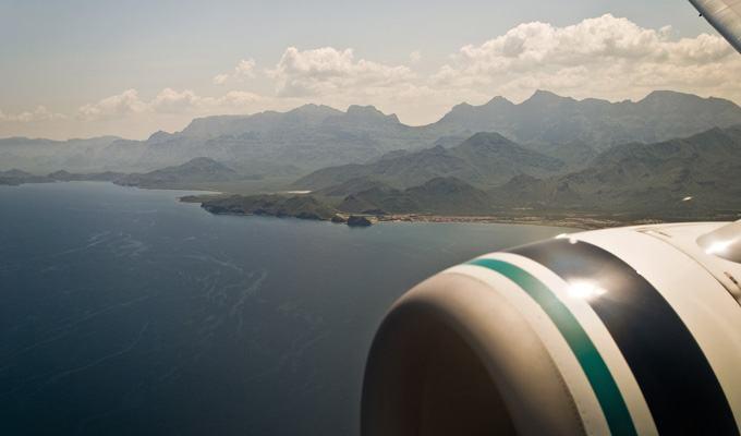Vista aérea do Alasca