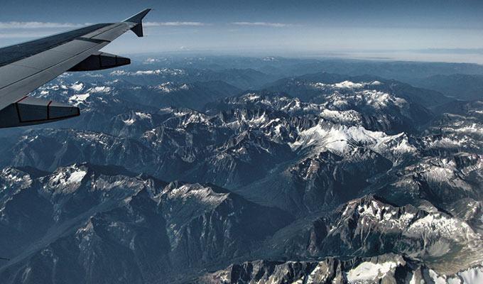 Vista aérea das Cascatas do Norte