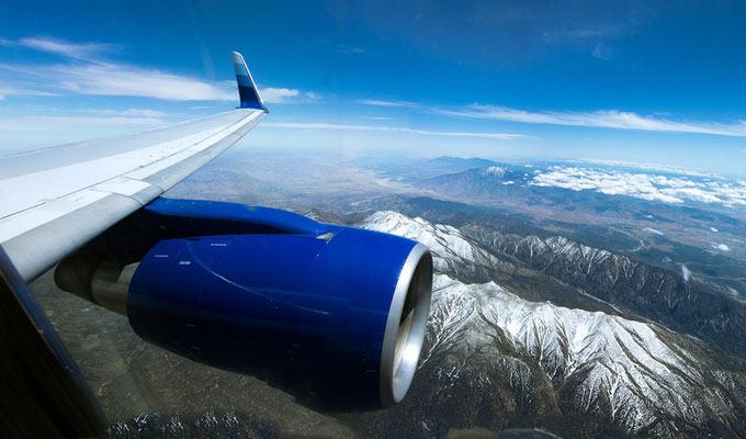 Vista aérea de uma cordilheira