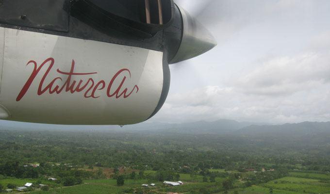 Vista aérea da Costa Rica