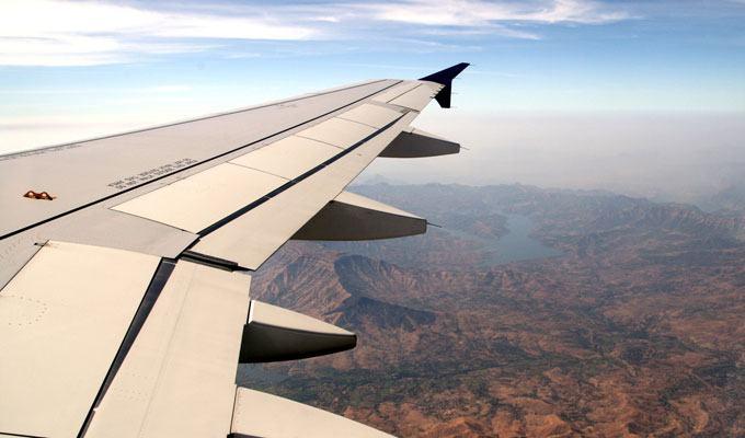 Vista aérea da India