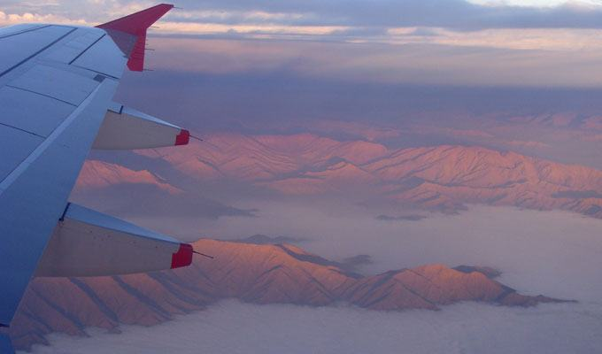 Vista aérea das Montanhas Costeiras