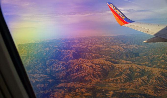 Vista aérea do Vale do Coiote