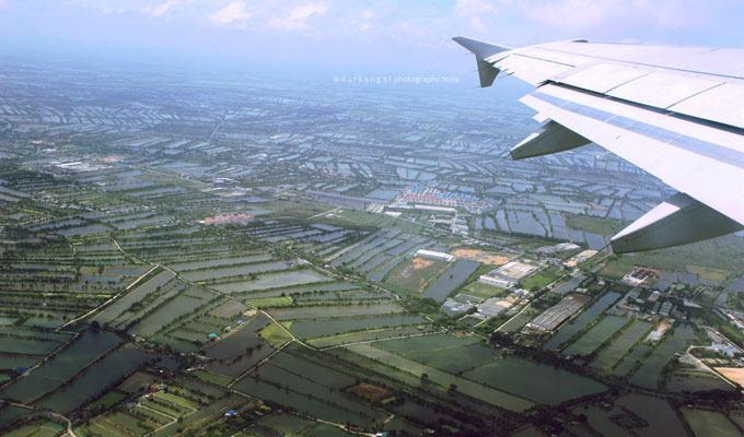 Vista aérea do Vietnam