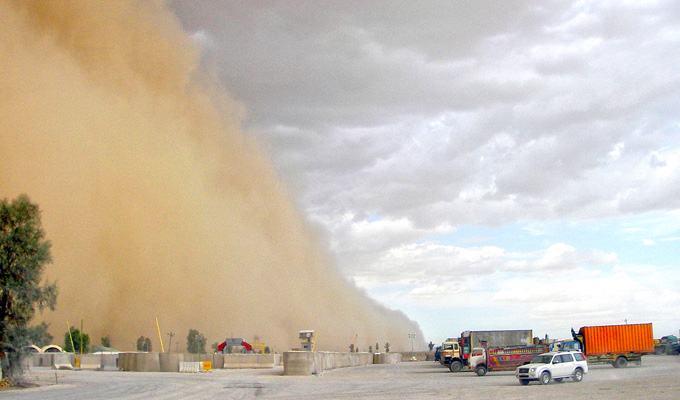 Tempestade de areia no Iraque