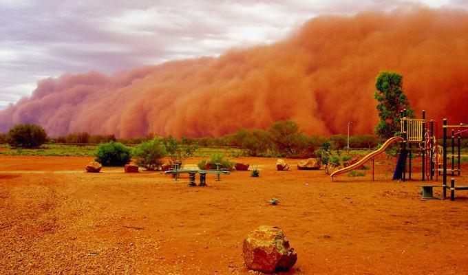 Tempestade de areia na Auatralia