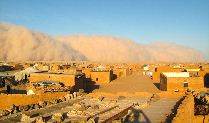 Tempesta de areia no deserto