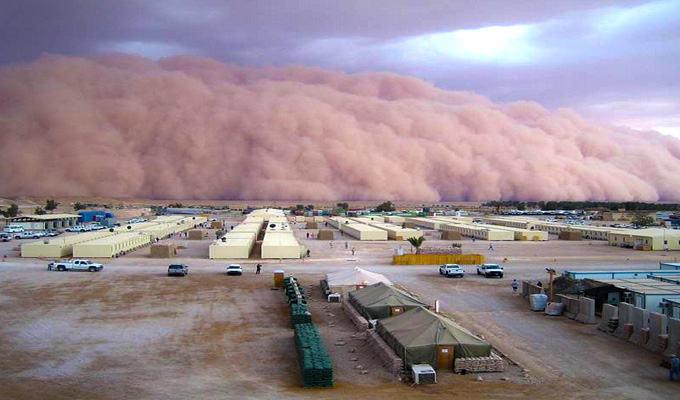 Mais uma tempestade de areia no Iraque