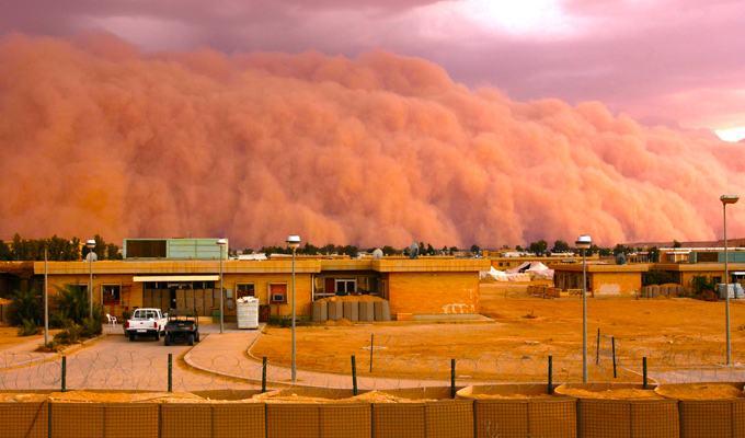 Outra tempestade de areia no Iraque