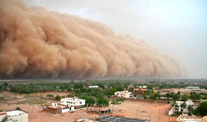 Tempestade de areia nas redondezas de Bagdá