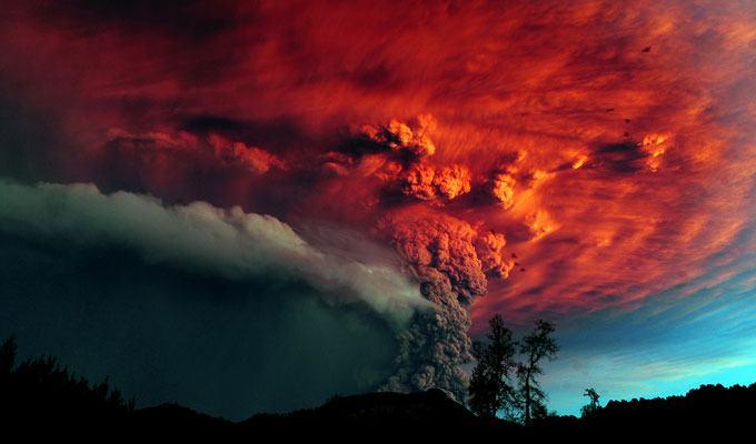 Foto de vulcão em erupção: Puyehue, Chile