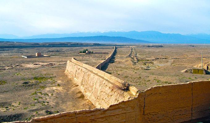 Fotos da Muralha da China no deserto