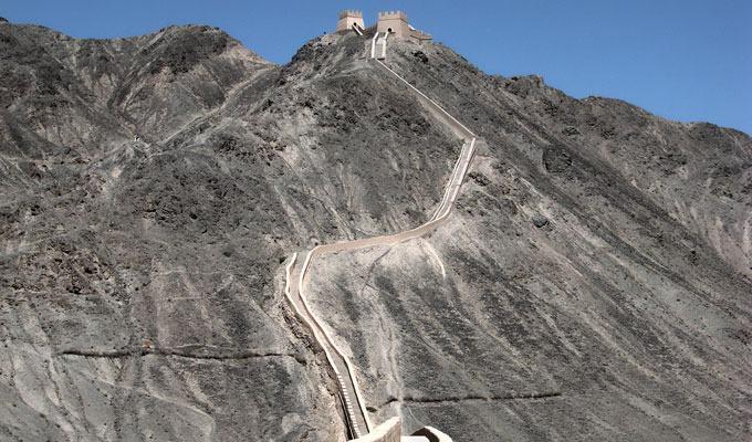 Fotos da Muralha da China nas montanhas